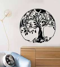 Vinyl Wall Decal Abstract Oak Tree Of Life Acorn Stickers 2242ig Wallstickers4you