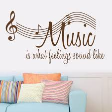 57 106cm Wall Sticker Music Is Feeling Theme Music Bedroom Decor Dancing Music Note Removable Wal Music Wall Stickers Wall Stickers Bedroom Music Bedroom Decor