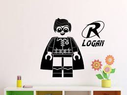 Lego Robin Personalized Vinyl Wall Decal Decals By Droids
