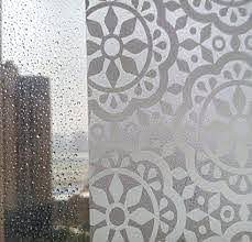 Amazon Com Bloss Privacy Window Film Lace Flower Home Office Window Decal Shower Door Privacy Film 17 7 I Shower Doors Window Film Privacy Shower Door Privacy