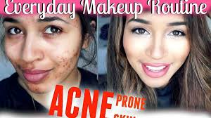 everyday makeup routine acne e