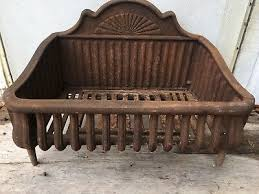 antique cast iron fireplace basket coal