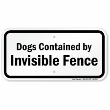 Warning Sign Png Dogs Contained By Invisible Fence Dog Warning Sign Invisible Fence Sign For Yard 1267713 Vippng