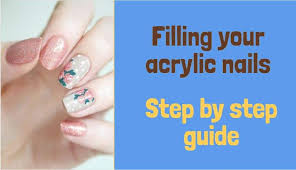 how to fill acrylic nails diy 6 easy