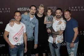 The boys with Miss Ava James McLean AJ's oldest daughter. | Backstreet  boys, Handsome men, Guys