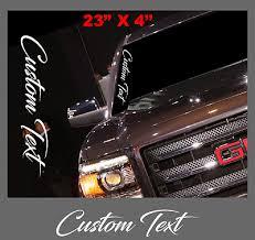 Custom Text Script Vertical Decal Sticker Windshield Vinyl Side Car Truck Jdm Ebay