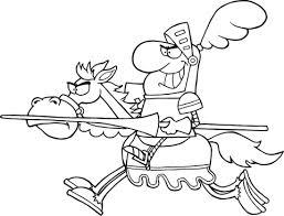 Ridder Op Een Paard Kleurplaat Gratis Kleurplaten Printen
