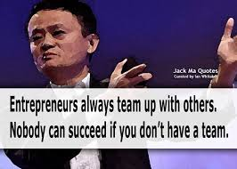 entrepreneurs team up others jack ma 马云 quotes
