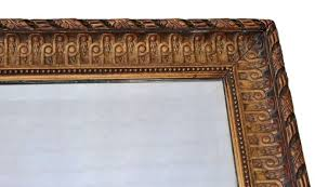 large antique gilt wall mirror for