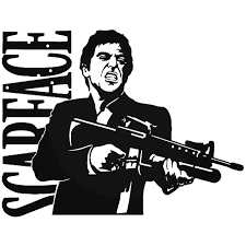 Sface Tony Montana Vinyl Decal Sticker