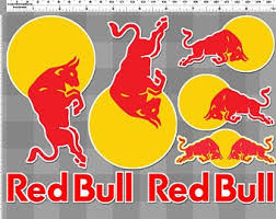 Red Bull Sticker Etsy