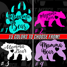 Momma Mama Bear Your Choice Car Truck Window Cutie Laptop Vinyl Decal Sticker Ebay