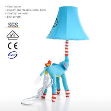 Best And Cheap Eu Blue Elephant Lamp Eu Plug Animal Lamp Kids Table Lamp Night Light For Kids Lampshade For Children Bedroom Nursery Room With Led Bulb Tooarts Com