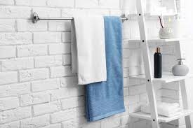 how to hang towels in bathroom simple