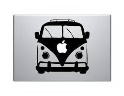 Vw Bus Apple Macbook Vinyl Decal Sticker Macbook Vinyl Decals Mac Decals Ipad Decal