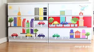 Update Furniture With Vinyl Decals Minimalist Kids Room Dresser Decals Ikea Kids