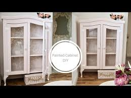 how to paint a china cabinet shabby