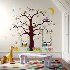 Harriet Bee Owl Tree Wall Decal Reviews Wayfair