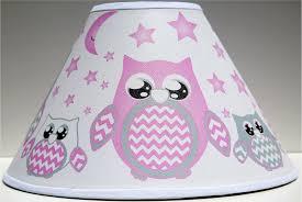 Amazon Com Pink Owl Lamp Shade Children S Woodland Forest Animal Nursery Room Decor Baby