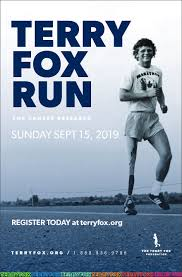 2019 Terry Fox Run on Sunday, September 15