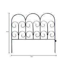 h black wrought iron garden fence 51039