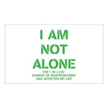 I Am Not Alone Squared Sticker Rectangle I Am Not Alone Sticker Rectangle By Averys Angels Cafepress