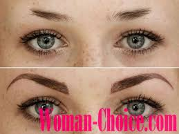 permanent eyebrows makeup description