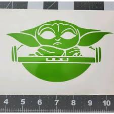 Star Wars Baby Yoda Vinyl Decal The Mandalorian Car Window Wall Sticker Computer