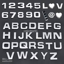 A Z Alphabet Letters Number Car Sticker Auto Badge Emblem 3d Diy Chrome Decal