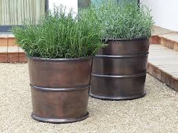 10 easy pieces bronze garden planters