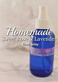homemade linen spray sweet rose and