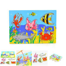 puzzles funny toys jigsaw wooden 3d