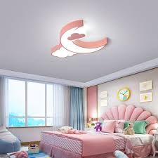 Mega Deal 0228b8 Creative Ceiling Lights Baby Kids Bedroom Decor Cloud Moon Lamp Dimmable Luci Led Ceiling Light Children Room Lights Plafonniers Cicig Co