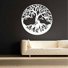 Amazon Com Battoo Celtic Tree Of Life Vinyl Wall Decal Tree Wall Art Living Room Vinyl Sticker Inspiring Home D Cor 44 H X44 W White Home Kitchen