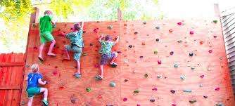 how to make a rock climbing wall with