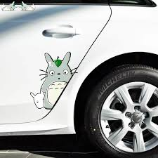 Aliauto 2 X Cartoon Cute Totoro Car Door Sticker Vinyl Decal For Motorcycle Honda Fiesta Lada Wardrobe Ford Focus Hyundai Kia Car Stickers Aliexpress