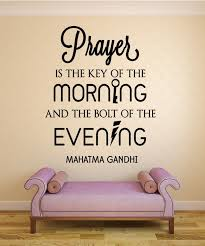 Prayer Is The Key Gandhi Inspirational Wall Decal Nuovocreations