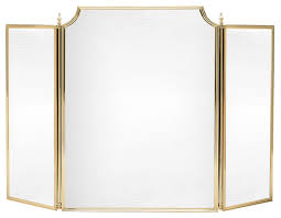 solid brass fireplace screen small