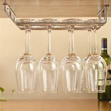 wine glass rack holder under cabinet