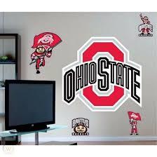 Osu Fathead Ohio State Buckeyes W Brutus Logo Durable Wall Vinyl Decal 54 X 42 1807862703