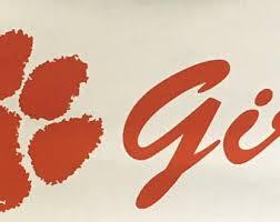 Clemson Tigers Decal Etsy