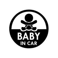 Baby In Car Circle Vinyl Decal Sticker For Wall Car Iphone Ipad Laptop Ebay