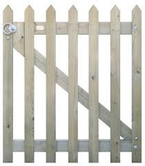 Pointed Pale Picket Fence Gate Jacksons Fencing
