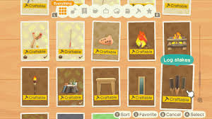 Animal Crossing New Horizons How To Craft Log Stakes