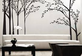 Forest Wall Decal Vinyl Wall Tree Stickers Forest Wall Arts Tree Nursery Wall Arts 139 00 Via Etsy Casas