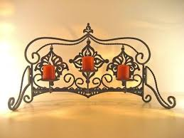 fancy wrought iron candle holder with