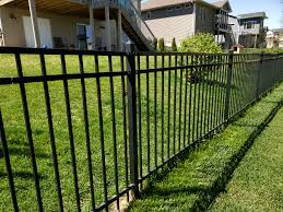 American Fence Company Of Iowa City Black Flat Top Residential Ornamental Iron Fence American Fence Company Of Iowa City Ia