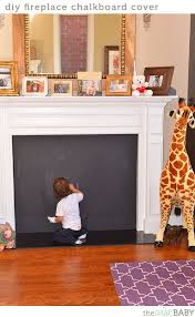 diy fireplace chalkboard cover the