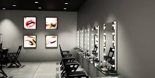makeup wall mounted mirror with lights