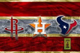 Houston Texans Sports Poster Houston Texans Houston Astros Houston Rockets Artwork Houston Teams In Front Of Houston Skyline Texans Astros Rockets Gift Nfl Houston Texans Sport Poster Rocket Gifts